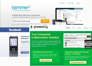 Collation of Intranet tool images