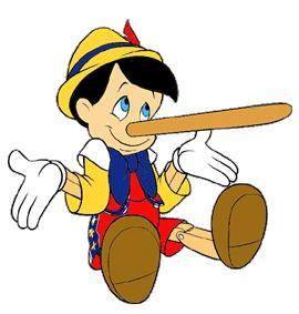 Pinocchio learned the hard way about telling the truth